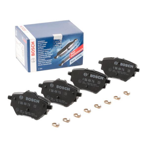 Brake Pad Set, disc brake BOSCH 0 986 494 716 Reviews