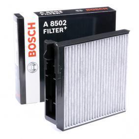A8502 BOSCH Aktivkohlefilter, mit antiallergischer Wirkung, mit antibakterieller Wirkung, Feinstaubfilter (PM 2.5), FILTER+ Breite: 189mm, Höhe: 43mm, Länge: 223mm Filter, Innenraumluft 0 986 628 502 günstig kaufen