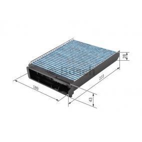 0 986 628 502 Filter, Innenraumluft BOSCH in Original Qualität
