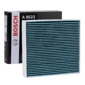 A8523 BOSCH Aktivkohlefilter, mit antiallergischer Wirkung, mit antibakterieller Wirkung, Feinstaubfilter (PM 2.5), + Breite: 213mm, Höhe: 30mm, Länge: 193mm Filter, Innenraumluft 0 986 628 523 günstig kaufen