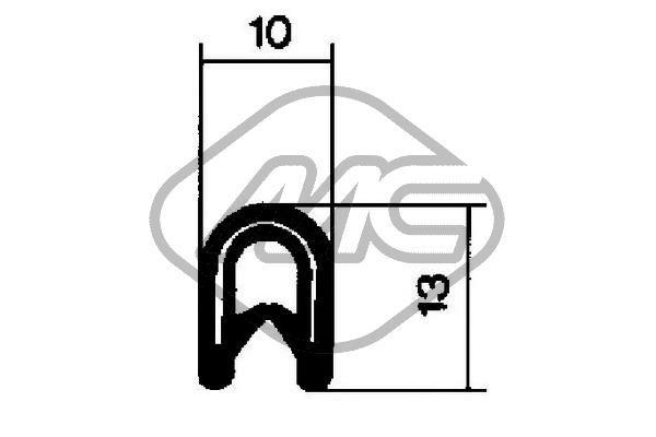 00605 Dørtætning Metalcaucho - Billige mærke produkter