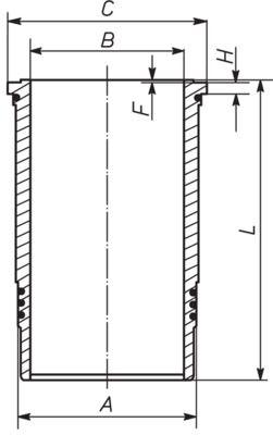 MAHLE ORIGINAL Cylinder Sleeve for FORD - item number: 007 WN 74 00