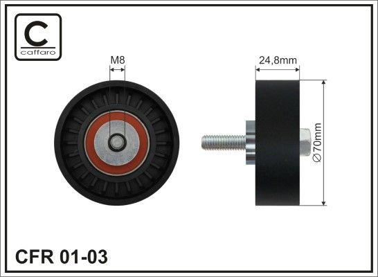 Poulie renvoi / transmission, courroie trapézoïdale à nervures CAFFARO 01-03 : achetez à prix raisonnables