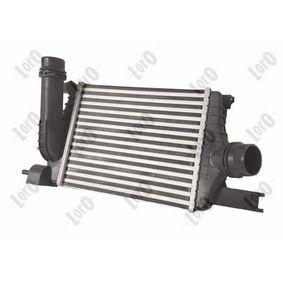 Radiador de aire de admisión ABAKUS 010-018-0004 Aluminio