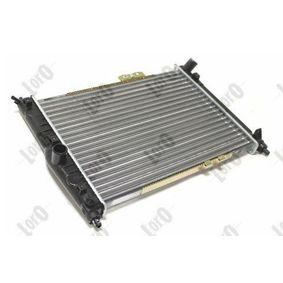 Radiador, arrefecimento do motor ABAKUS 011-017-0005