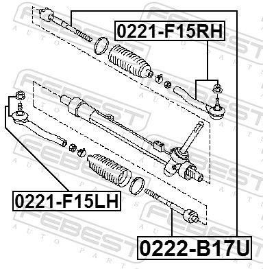 0221-F15LH Lenkstangenkopf FEBEST - Markenprodukte billig