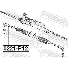 0221P12 Spurstangenkopf FEBEST 0221-P12 - Große Auswahl - stark reduziert