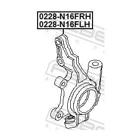 0228N16FLH Achsschenkel, Radaufhängung FEBEST 0228-N16FLH - Große Auswahl - stark reduziert