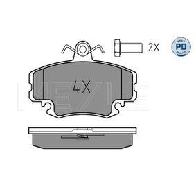 21463 MEYLE MEYLE-PD Quality, Vorderachse, inkl. Verschleißwarnkontakt, mit Anti-Quietsch-Blech Höhe: 64,6mm, Breite: 100mm, Dicke/Stärke: 18,1mm Bremsbelagsatz, Scheibenbremse 025 214 6318/PD günstig kaufen