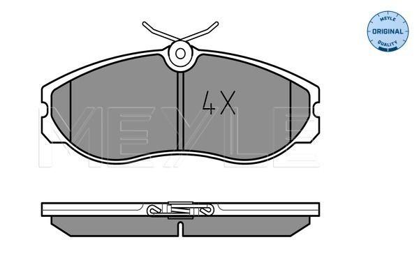 Rear Axle With anti-squeak plate 025 214 8717 Meyle Brake Pad Set