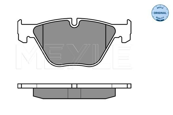 Disk brake pads 025 233 1320 MEYLE — only new parts