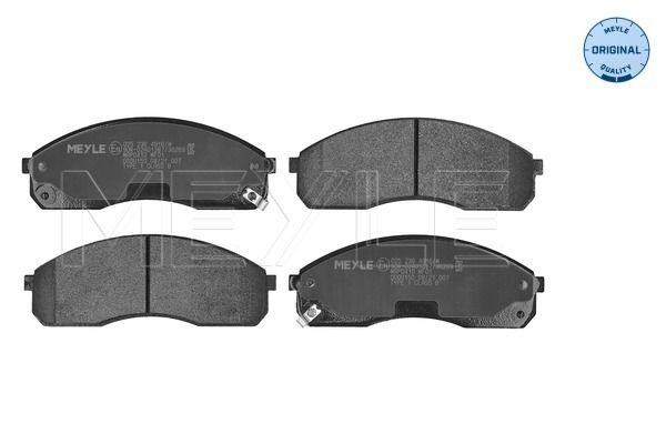 KIA K2500 2016 Bremsbeläge - Original MEYLE 025 236 4916/W Höhe: 56,2mm, Breite: 154,2mm, Dicke/Stärke: 16,2mm