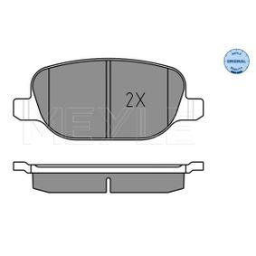 Meyle Brake Pad Set Front Axle With anti-squeak plate 025 237 9120