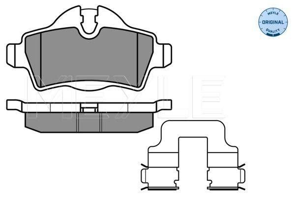 24289 MEYLE ORIGINAL Quality, Hinterachse, für Verschleißwarnanzeiger vorbereitet, mit Anti-Quietsch-Blech Höhe 1: 49mm, Höhe 2: 39mm, Breite: 95,4mm, Dicke/Stärke: 17mm Bremsbelagsatz, Scheibenbremse 025 242 8917 günstig kaufen