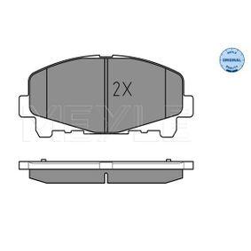 0252476616 Bremsbeläge MEYLE MBP0665 - Große Auswahl - stark reduziert