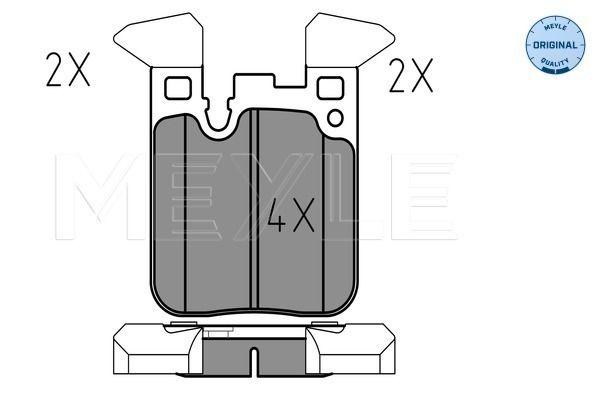 25029 MEYLE ORIGINAL Quality, Hinterachse, für Verschleißwarnanzeiger vorbereitet, mit Anti-Quietsch-Blech Höhe: 88,1mm, Breite: 71,9mm, Dicke/Stärke: 15,8mm Bremsbelagsatz, Scheibenbremse 025 250 2916 günstig kaufen