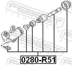 FEBEST   Nehmerzylinder, Kupplung 0280-R51