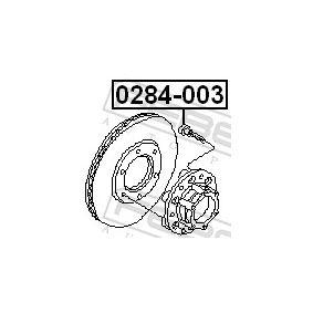 0284003 Radbolzen FEBEST 0284-003 - Große Auswahl - stark reduziert