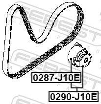 0290-J10E Riemenspanner, Keilrippenriemen FEBEST - Markenprodukte billig