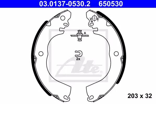 Bremsbackensatz ATE 03.0137-0530.2 Bewertungen
