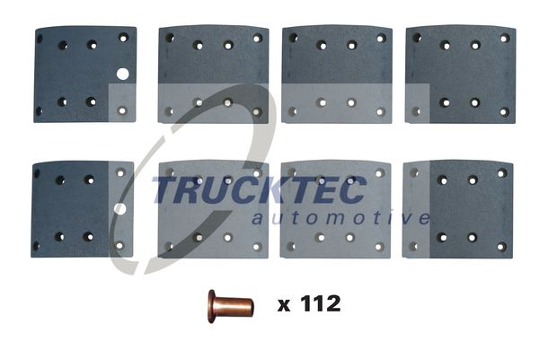 TRUCKTEC AUTOMOTIVE Bremsbelagsatz, Trommelbremse für VOLVO - Artikelnummer: 03.35.123