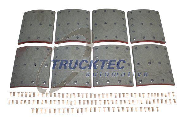 Bremsbelagsatz, Trommelbremse TRUCKTEC AUTOMOTIVE 03.35.124 mit 15% Rabatt kaufen