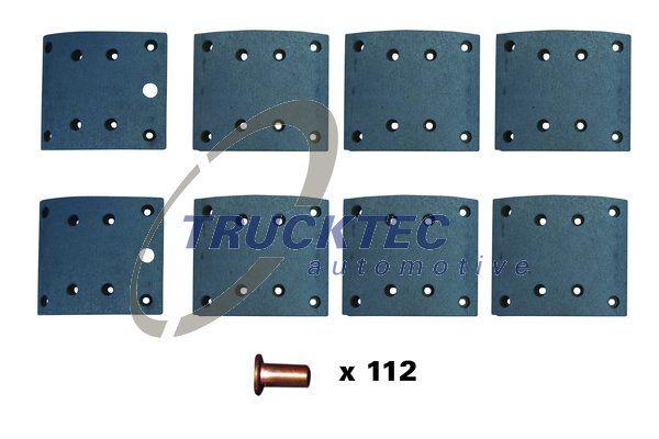 TRUCKTEC AUTOMOTIVE Bremsbelagsatz, Trommelbremse für RENAULT TRUCKS - Artikelnummer: 03.35.125