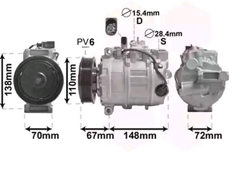 Klimakompressor VAN WEZEL 0301K701
