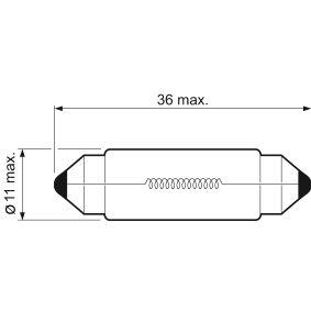 032217 Glühlampe, Kennzeichenleuchte VALEO in Original Qualität