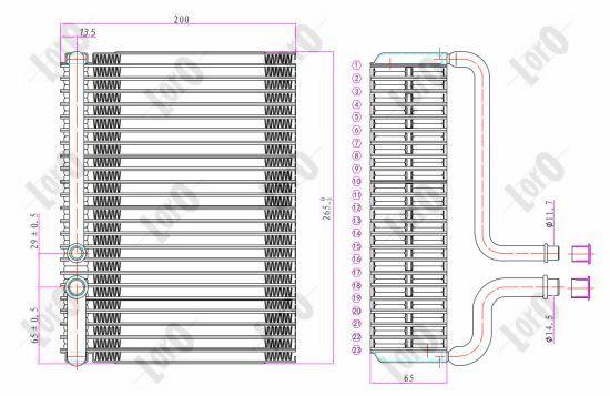 OE Original Verdampfer Klimaanlage 038-020-0001 ABAKUS