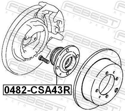 0482-CSA43R Главина на колелото FEBEST - опит