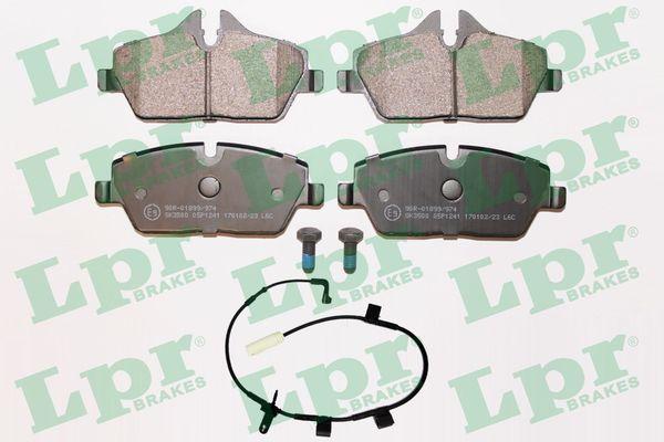 05P1241A LPR mit Schrauben Höhe 1: 64,9mm, Höhe 2: 53,2mm, Breite: 131,2mm, Dicke/Stärke: 17,5mm Bremsbelagsatz, Scheibenbremse 05P1241A günstig kaufen