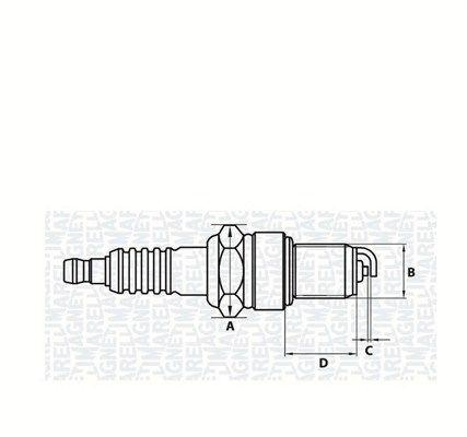 Zündkerzensatz MAGNETI MARELLI 062000770304