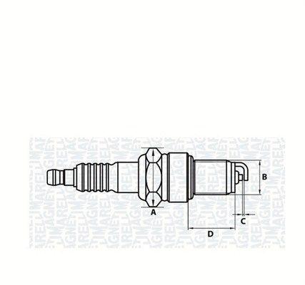 Zündkerzensatz MAGNETI MARELLI 062000773304