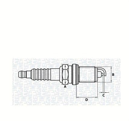 A5KMR MAGNETI MARELLI M14, SW: 16, mit Flachsitz E.A.: 1mm Zündkerze 062000774304 günstig kaufen