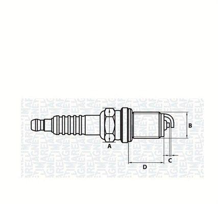 CT5KMMR MAGNETI MARELLI M14, SW: 16, mit Flachsitz E.A.: 0,7mm Zündkerze 062000775304 günstig kaufen