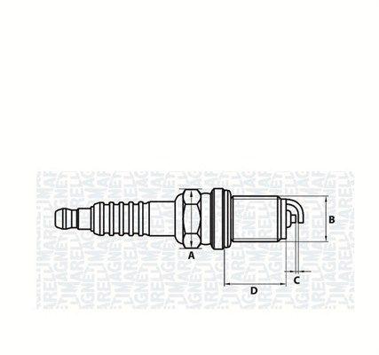 Zündkerzensatz MAGNETI MARELLI 062000776304