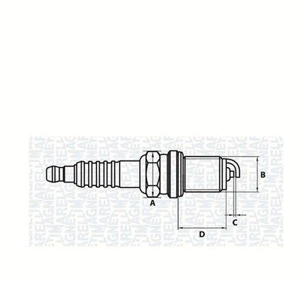 Zündkerzen MAGNETI MARELLI 062000781304