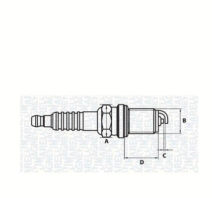 Original DODGE Запалителна свещ 062000782304
