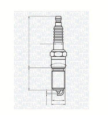 Original DODGE Запалителна свещ 062000787304