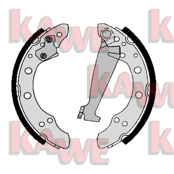 KAWE: Original Bremsklötze für Trommelbremse 06830 (Breite: 40mm)