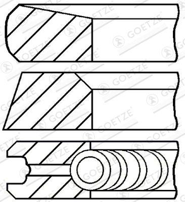 GOETZE ENGINE Piston Ring Kit for ISUZU - item number: 08-446300-00