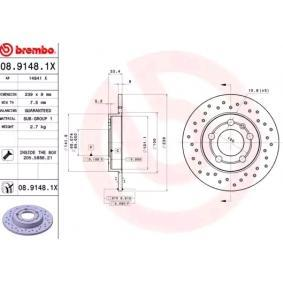 Brake Disc 08.9148.1X at a discount — buy now!