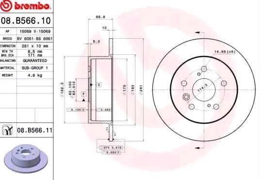 Brembo 08.B357.11 Rotores de Discos de Frenos