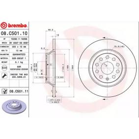 08C50111 Bremsscheiben BREMBO 08.C501.11 - Große Auswahl - stark reduziert