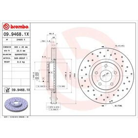 09.9468.1X Brake Disc BREMBO - Cheap brand products