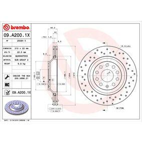 09.A200.1X Brake Disc BREMBO original quality