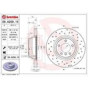 09.A259.1X Brake Disc BREMBO original quality