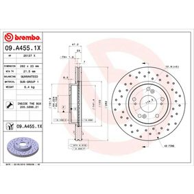 09.A455.1X Brake Disc BREMBO - Experience and discount prices