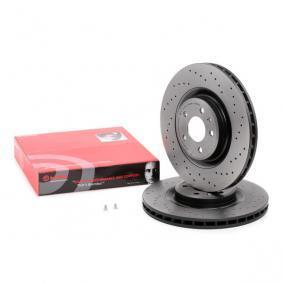 09.B039.1X BREMBO XTRA LINE Geperforeerd / Geventileerd, Gecoat, High carbon, Met schroeven Ø: 345mm, Aantal gaten: 5, Remschijfdikte: 29,5mm Remschijf 09.B039.1X
